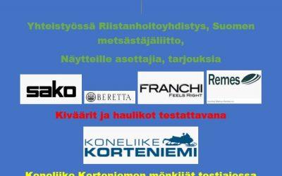 Metsästyskauden avajaiset 11.8